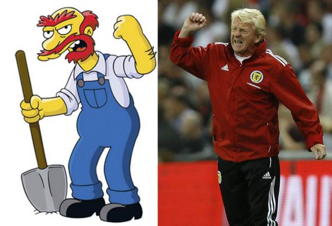 Groundskeeper Willie and Gordon Strachan