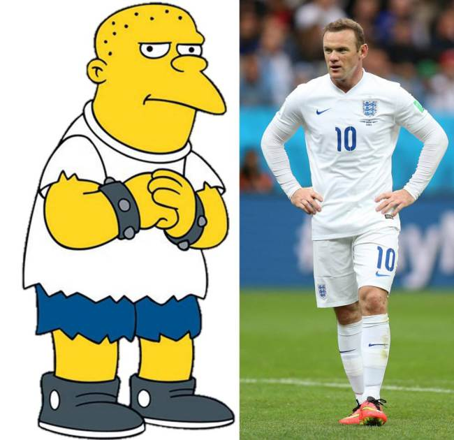 Simpson bully Kearney and Wayne Rooney