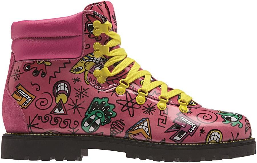 adidas Originals x Jeremy Scott Kenny Scharf 聯名高筒靴 NTD9,800_M18988
