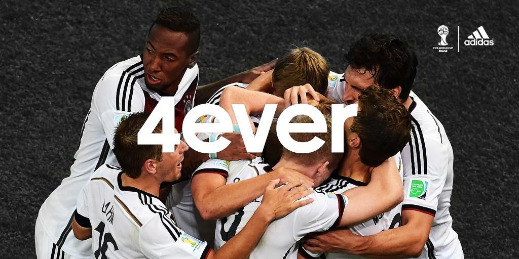 繼1954年、1974年與1990年三度榮獲世界盃冠軍殊榮後,德國在2014年巴西世界盃第四度奪下世界冠軍,躍升為具備第二多冠軍頭銜的國家