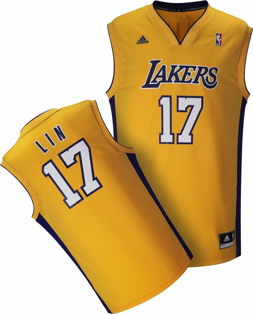 adidas林書豪洛杉磯湖人隊17號Replica球迷版主場球衣,將於8月2日(六) 1700 在忠孝旗艦店獨家販售,限量50件,售價$2,290