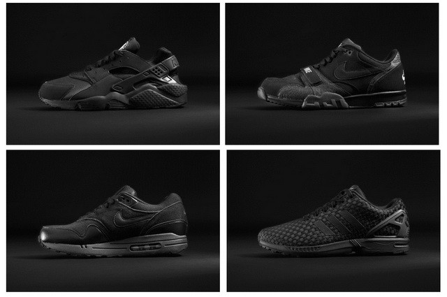 """542ac719932a3 Foot Locker Europe """"Back To Black"""" Collection 暗黑當道"""