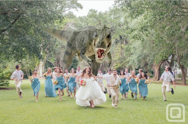 hilarious-photo-of-a-t-rex-chasing-a-wedding-party-44131-650x431