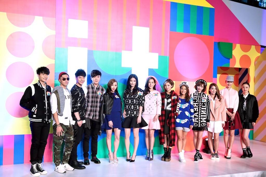 一眾明星連同天后陳慧琳合照為i.t Fashion Piazza秋冬時裝及鞋履展劃上完美句號