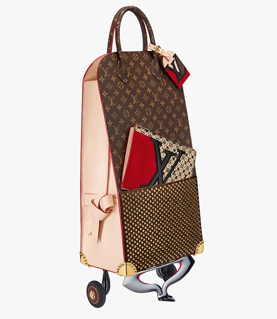 Louis-Vuitton-Christian-Louboutin-Shopping-Trolley