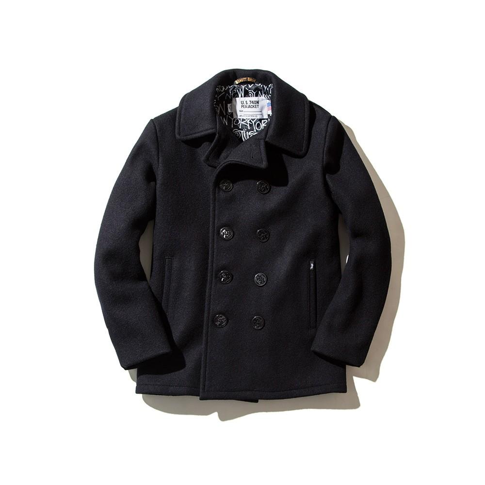 Stussy X Schott N.Y.C. Pea Coat_NT$16800