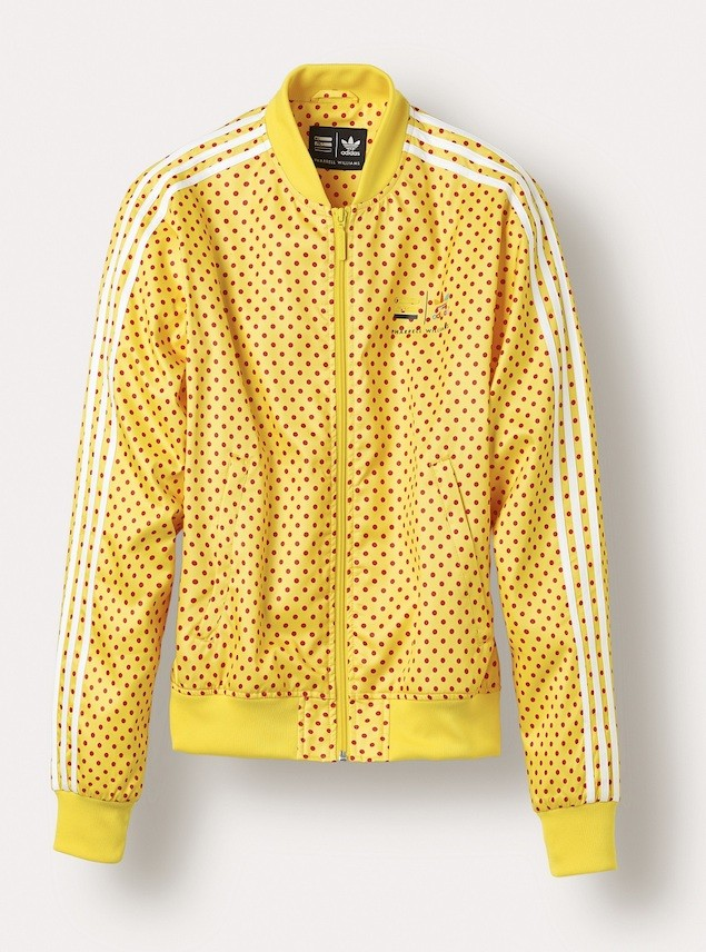 "adidas Originals=Pharrell Williams""Polka Dot"" Superstar Track Jackets NTD 4690 (Yellow)"