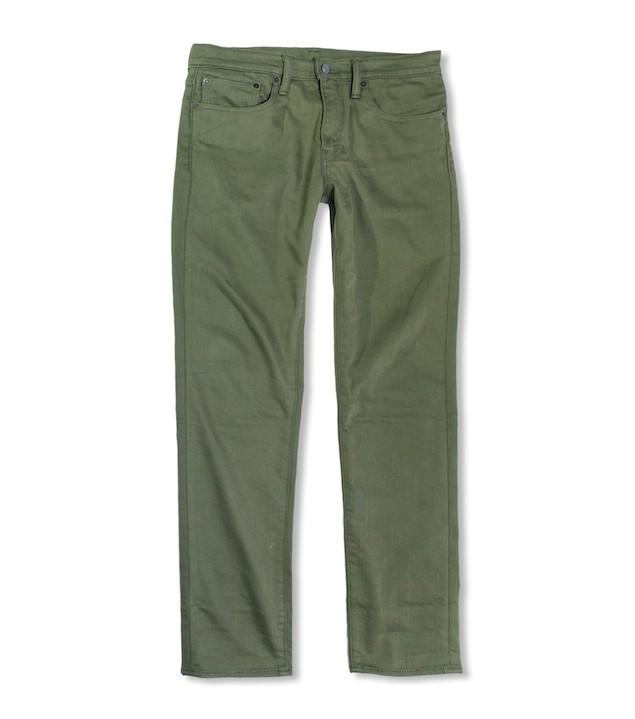 保暖系列軍綠色511 非丹寧休閒褲