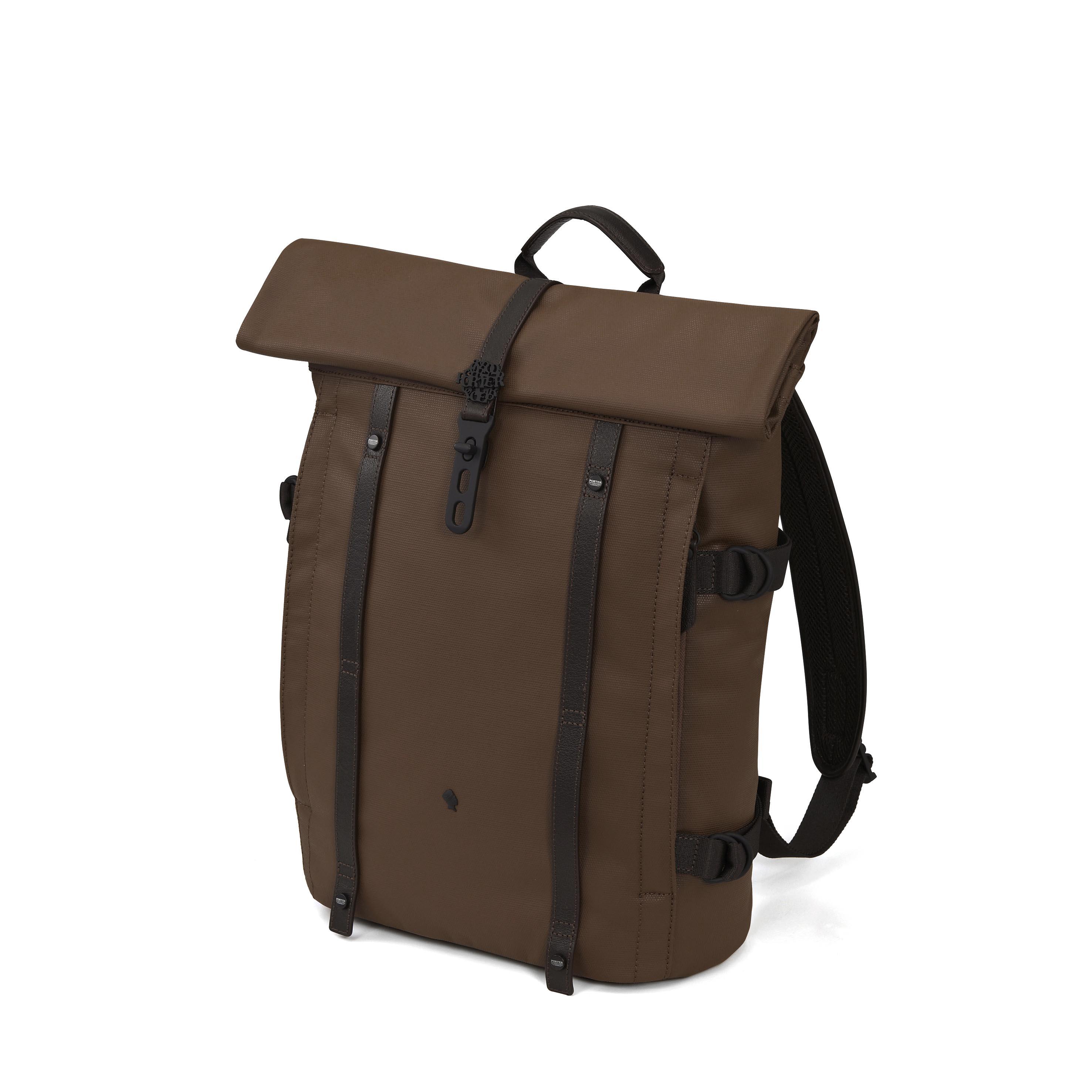 DUKE 栗褐色背包 NTD 10500 (側)