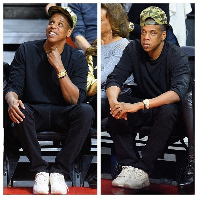 Jay-Z-courtside-at-Cleveland-Cavaliers-v-Los-Angeles-Clippers-Game-with-Beyonce-wearing-Bape-Camo-Hat-and-King-Push-x-Adidas-EQT-guidance-93-Sneakers-Shoes-22-640x640