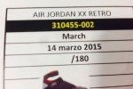 Air Jordan XX Retro @ March 14, 2015