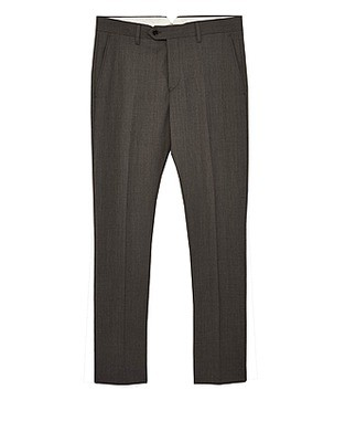 Grey Drifter Slim Tailored Trousers