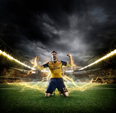 兵工廠球隊(Arsenal)當家前鋒Oliver Giroud