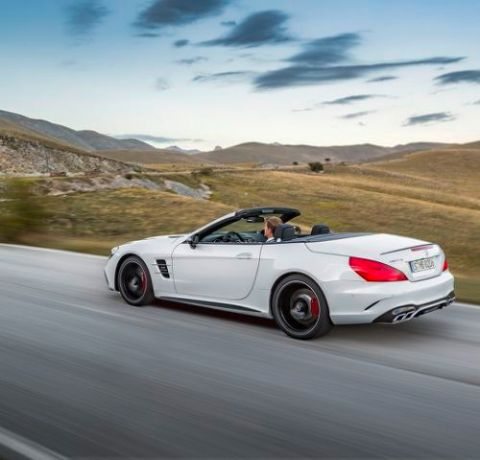 Mercedes AMG SL 63, Diamantweiß