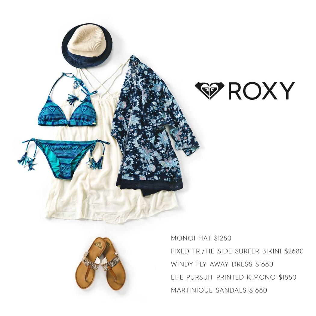 ROXY多款的皮質涼鞋搭配甜美洋裝,提供多元化的穿搭選擇