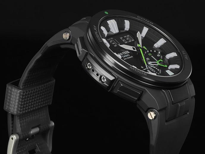 PRW-7000- 1A碳纖維橡膠錶帶  提升整體錶帶耐用性