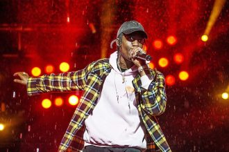 Travis Scott (aka. Jacques Webster) seen at the 2016 Festival d'ete de Quebec in downtown Quebec City on Saturday, July 9, 2016, in Quebec City, Quebec, Canada. (Photo by Amy Harris/Invision/AP)