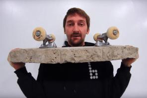 號稱什麼都能滑的滑板團隊,這回上腳的板竟是「混凝土」作成的!?