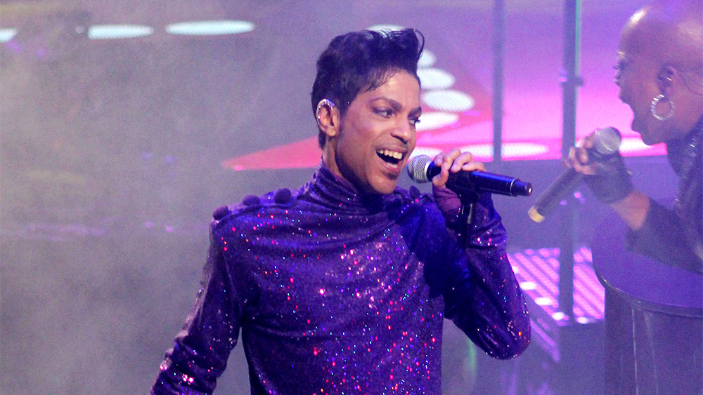 'EDITORIAL USE ONLY' Mandatory Credit: Photo by REX/Shutterstock (1273787av) Prince Prince in concert, Welcome To America Tour, Madison Square Garden, New York, America - 18 Jan 2011