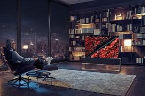 電視跟銀幕一樣可以收放?LG 推出全球首款可捲式OLED電視