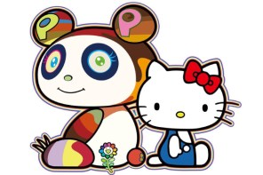 Hello Kitty 暖心支援!這樣村上隆的小花應該就不會枯萎了吧?