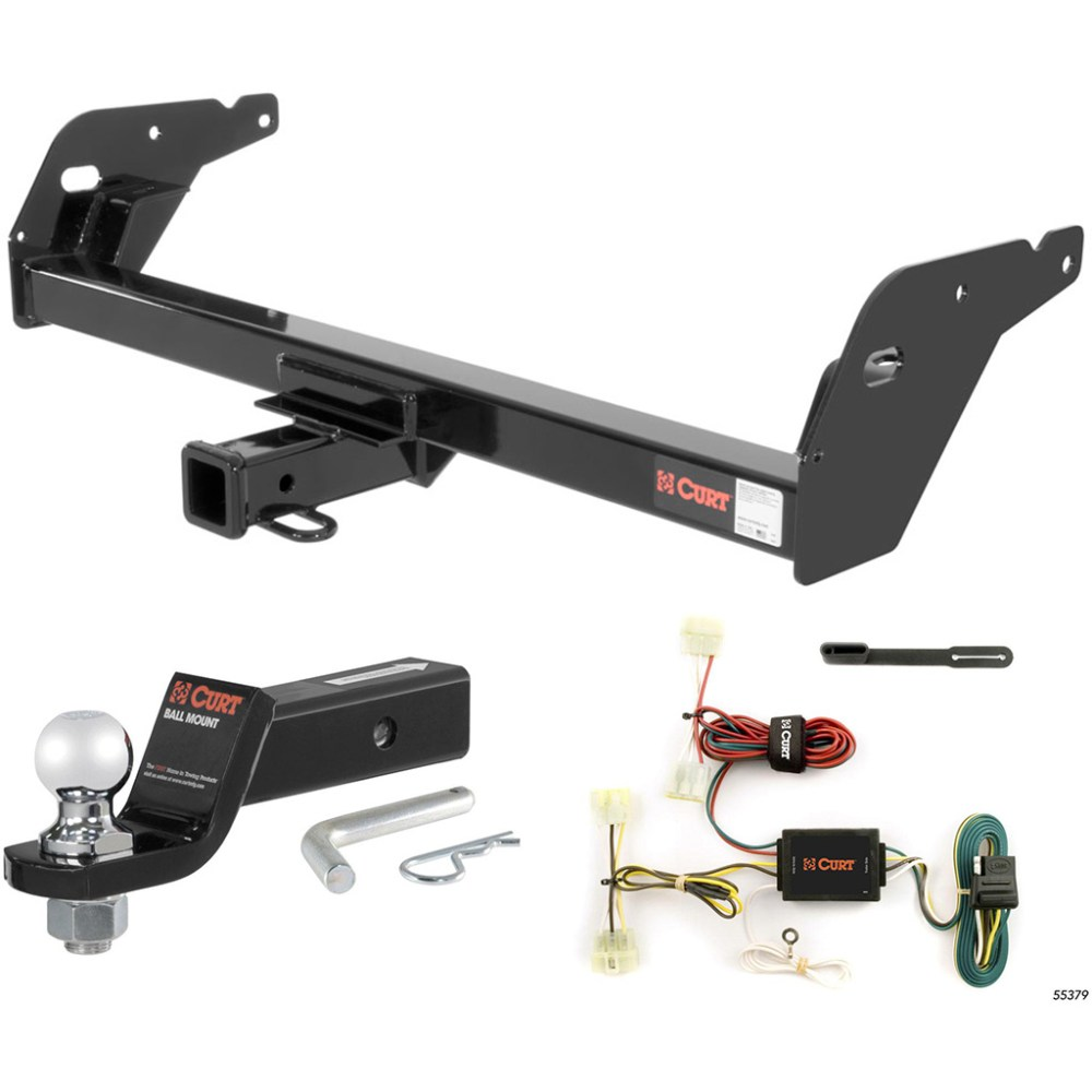 medium resolution of curt class 3 trailer hitch tow package with 2 ball for 1995 2004 toyota