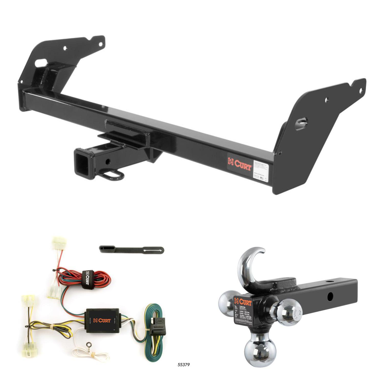 hight resolution of curt trailer hitch wiring w tow hook ball mount for 95 04 toyota tacoma