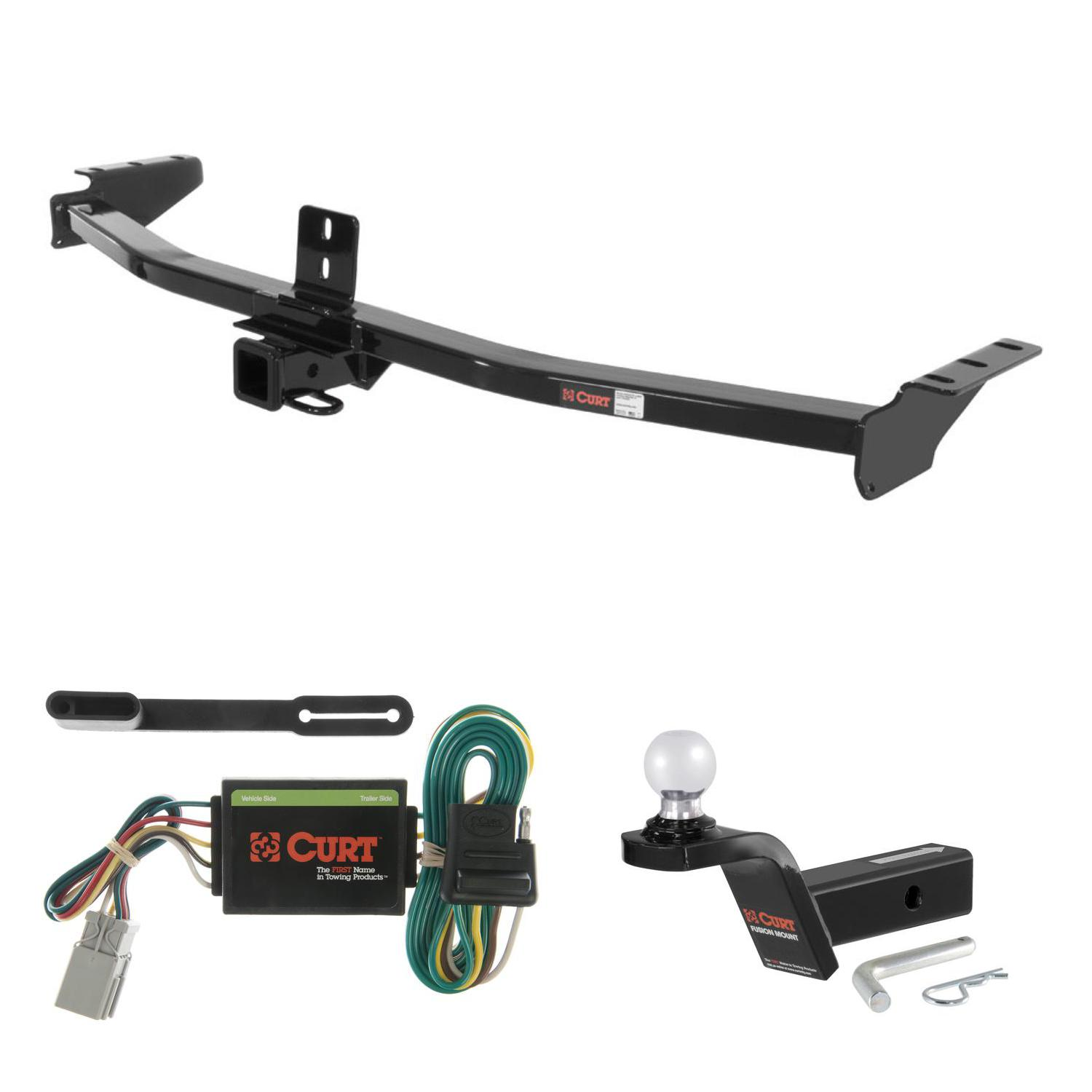 hight resolution of curt trailer hitch wiring 2 ball mount w 2 rise for acura mdx honda pilot