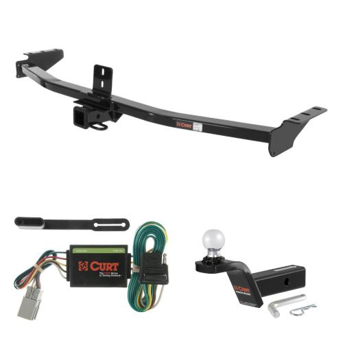 small resolution of curt trailer hitch wiring 2 ball mount w 2 rise for acura mdx honda pilot