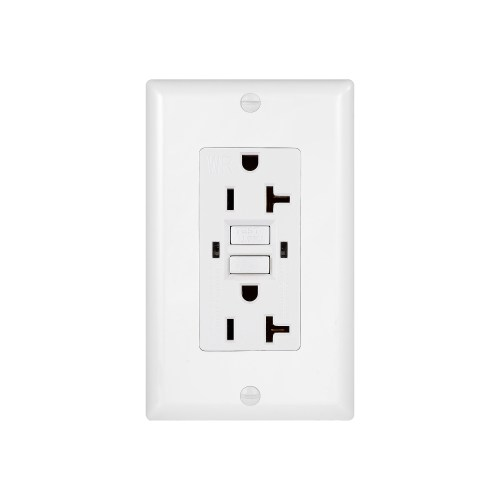 small resolution of 20 amp gfci duplex outlet weather resistant receptacle with self test indicator