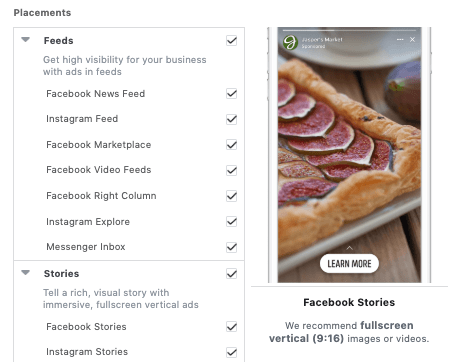 Facebook Ads Placements