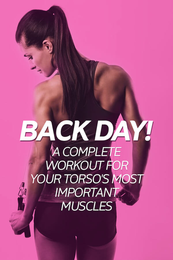 Fit woman with trim and strong physique after training on back day.