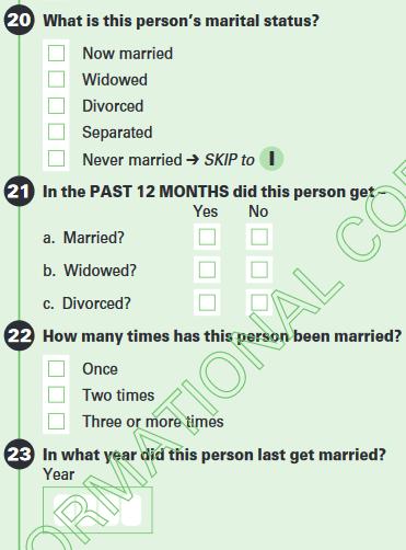 Marital Status Questions