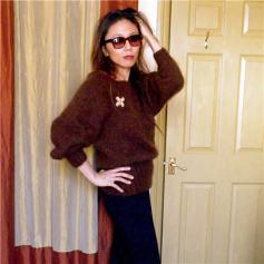 Kim Hargreaves Edie Bat Wing Sweater