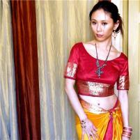 Self-drafted Sari Top