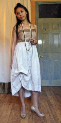 Altered RTW Lolita Goth Dress