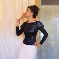 Self-drafted Dartless Fitted Knit Block wearable muslin (aka Camden Town Kids Wannabe top)