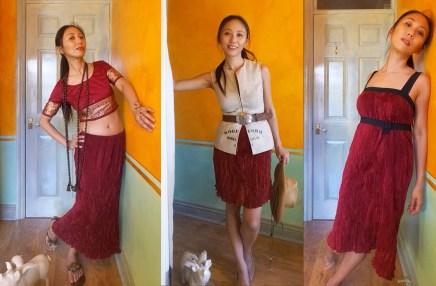 Altered Self-draped Fortuny Skirt/Dress