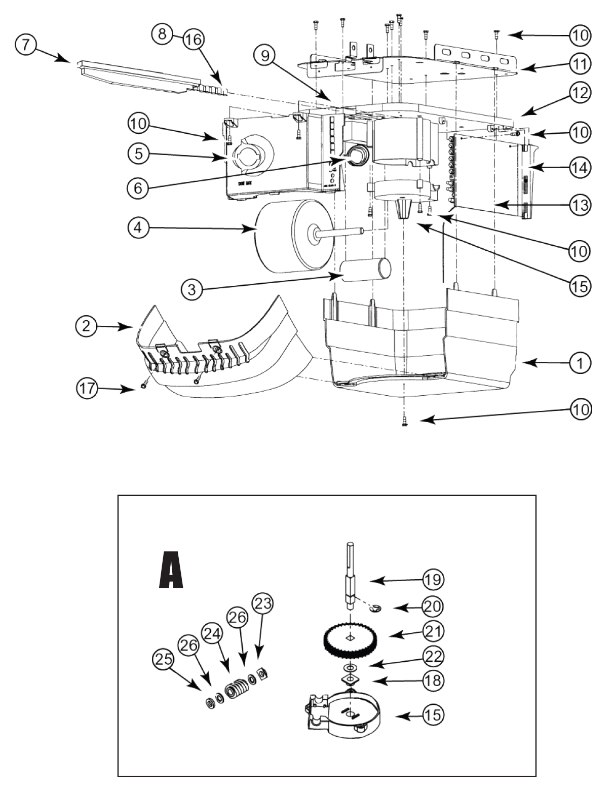 Search Parts for the Python Chain Glide Motor