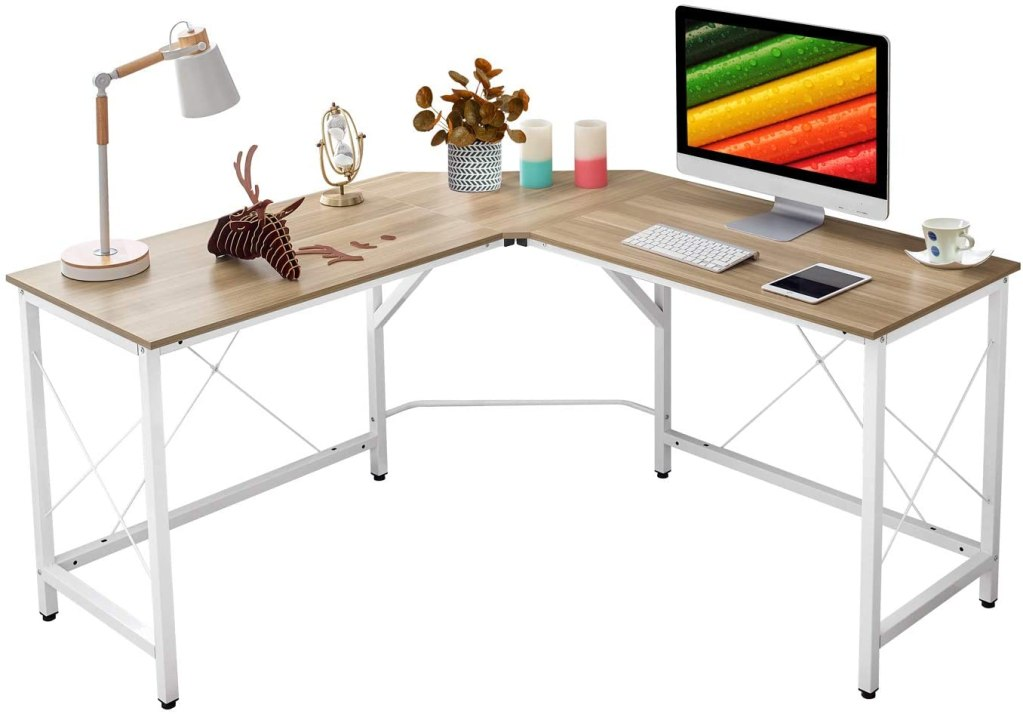 "Mr IRONSTONE L-Shaped Desk 59"" Computer Corner Desk"