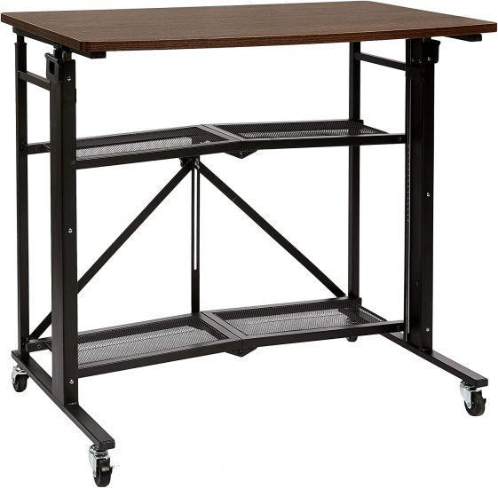 AmazonBasics Foldable Standing Computer Desk