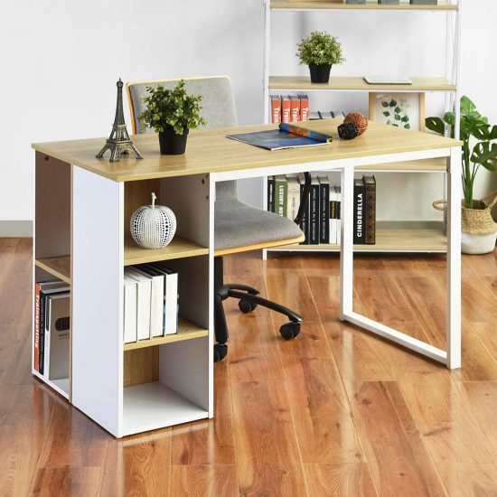 Coavas Writing Desk with Storage