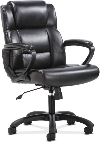HON BSXVST305 Sadie Leather Executive Computer Office Arms-Ergonomic Swivel Chair