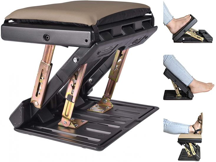 HiHydro Adjustable Footrest with Removable Soft Foot Rest Pad