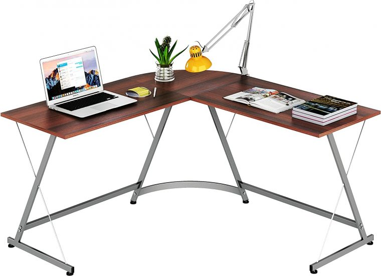 Le Crozz SHW L-Shape Corner Desk Computer Gaming Desk Table