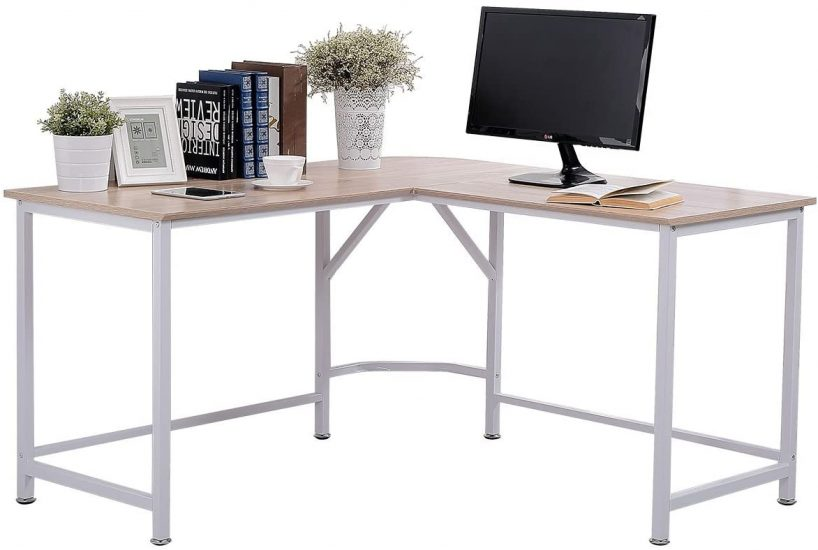 TOPSKY L-Shaped Desk Corner Computer Desk