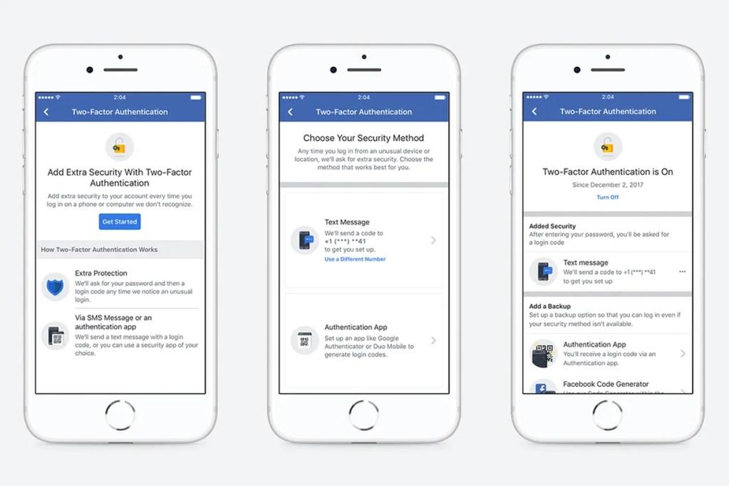 facebook authentification