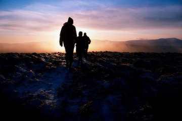 hikers in wicklow ireland
