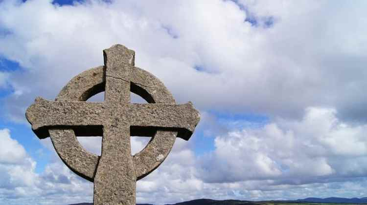 image of Celtic Cross Hidden in the Forest