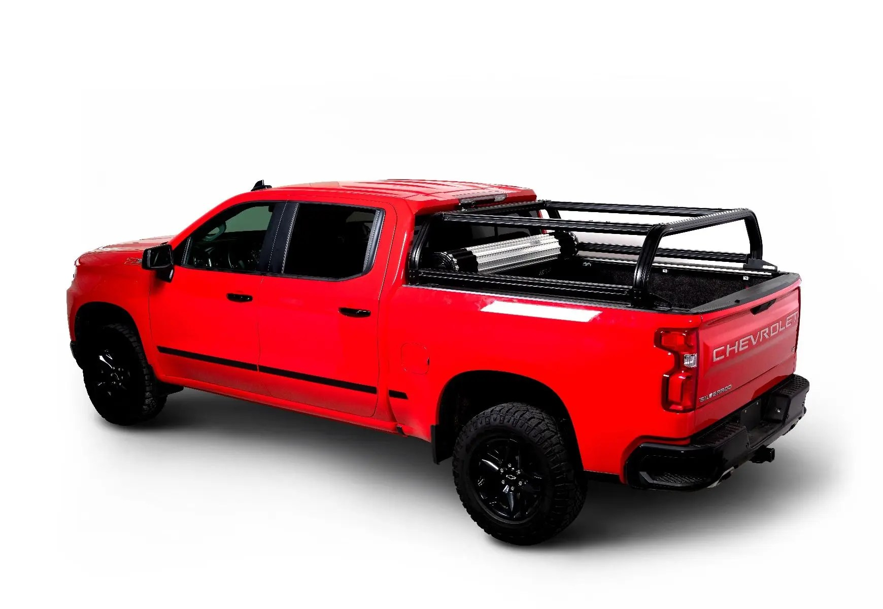venturetec overland bed rack for chevy silverado or gmc sierra 1500 2019 to present 6ft 5in standard bed